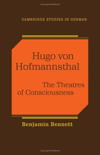 9780521340533: Hugo von Hofmannsthal: The Theaters of Consciousness