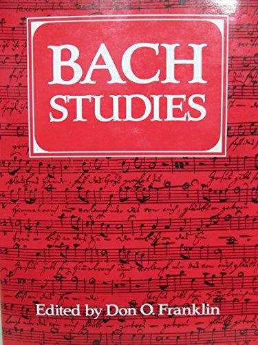 9780521341059: Bach Studies