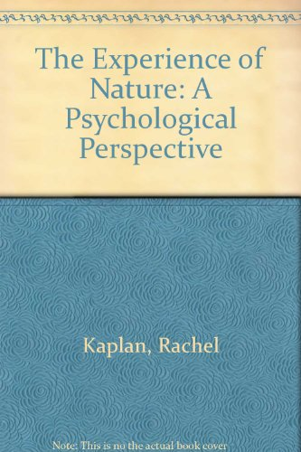 9780521341394: The Experience of Nature: A Psychological Perspective