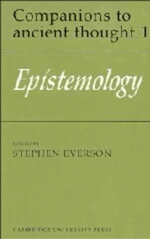 9780521341615: Epistemology (Companions to Ancient Thought)