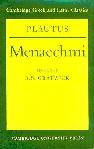 9780521341622: Plautus: Menaechmi (Cambridge Greek and Latin Classics)