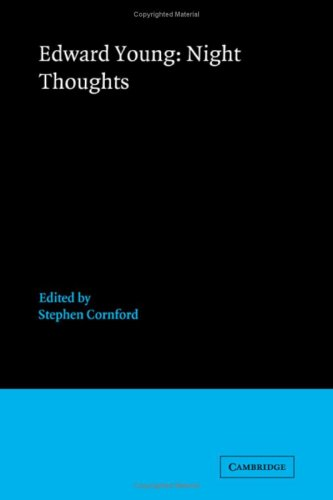 9780521341851: Edward Young: Night Thoughts