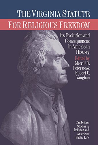 9780521343299: The Virginia Statute for Religious Freedom: Its Evolution and Consequences in American History (Cambridge Studies in Religion and American Public Life)