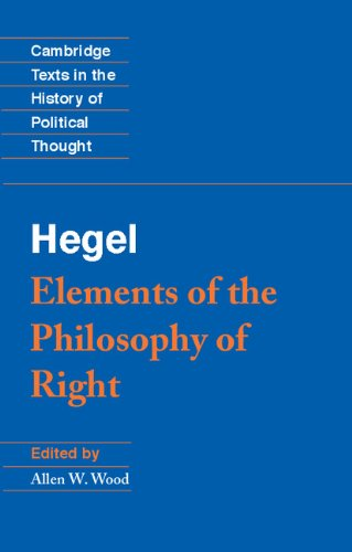 9780521344388: Hegel: Elements of the Philosophy of Right (Cambridge Texts in the History of Political Thought)