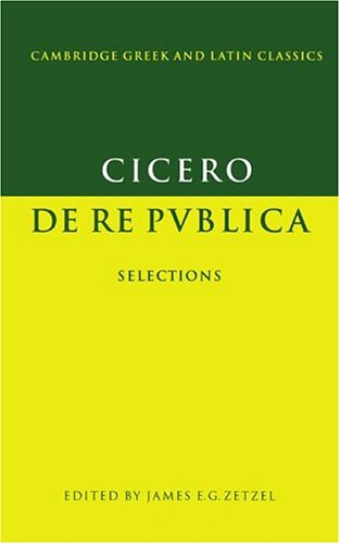 9780521344654: Cicero: De re publica: Selections