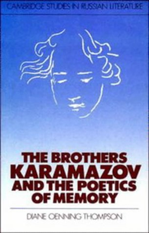 9780521345729: The Brothers Karamazov and the Poetics of Memory (Cambridge Studies in Russian Literature)