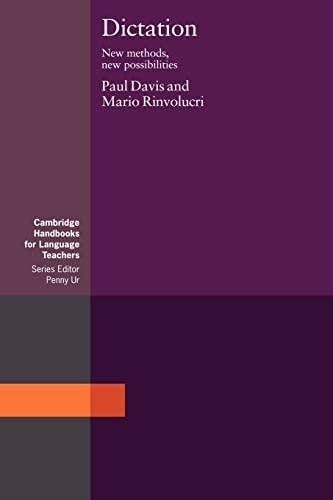 9780521348195: Dictation: New Methods, New Possibilities (Cambridge Handbooks for Language Teachers)