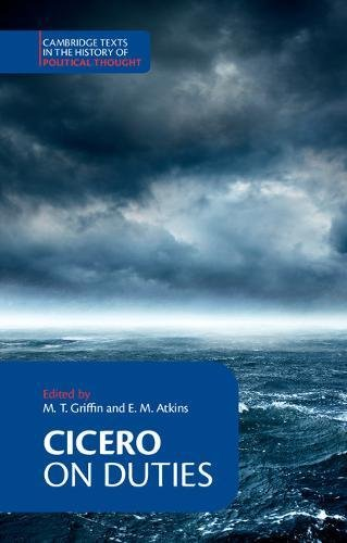 9780521348355: Cicero: On Duties (Cambridge Texts in the History of Political Thought)