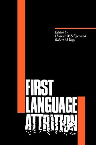 9780521348836: First Language Attrition