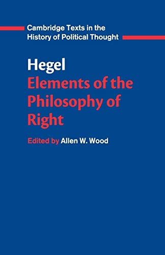 9780521348881: Hegel: Elements of the Philosophy of Right (Cambridge Texts in the History of Political Thought)