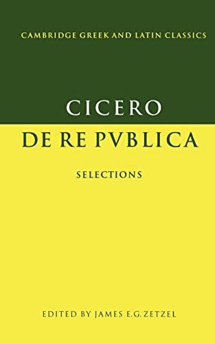 9780521348966: Cicero: De re publica: Selections