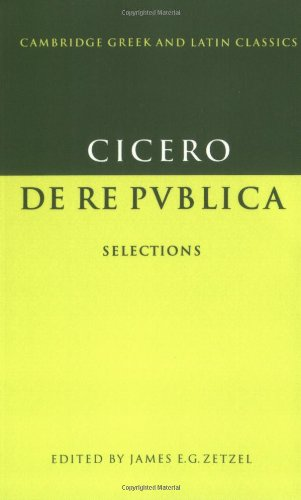 9780521348966: De re publica: Selections (Cambridge Greek and Latin Classics)