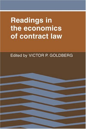 9780521349208: Readings in the Economics of Contract Law