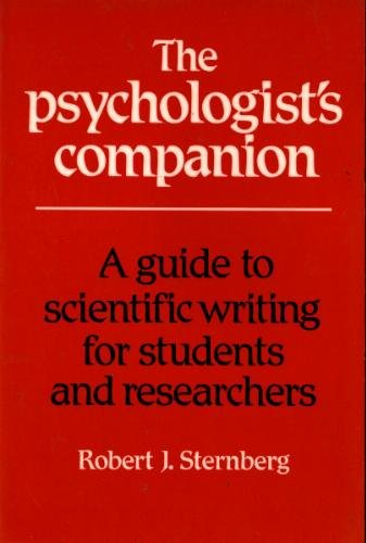 9780521349215: The Psychologist's Companion: A Guide to Scientific Writing for Students and Researchers