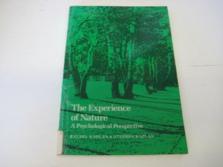 9780521349390: The Experience of Nature. A Psychological Perspective