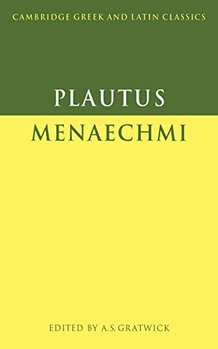 9780521349703: Plautus: Menaechmi (Cambridge Greek and Latin Classics)