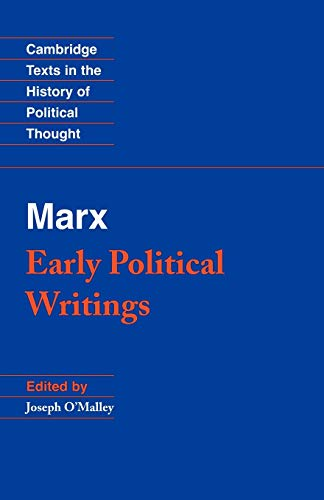 9780521349949: Marx: Early Political Writings (Cambridge Texts in the History of Political Thought)