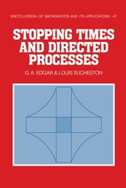 9780521350235: Stopping Times and Directed Processes (Encyclopedia of Mathematics and its Applications)