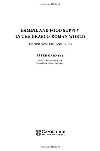 9780521351980: Famine and Food Supply in the Graeco-Roman World: Responses to Risk and Crisis
