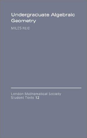 9780521355599: Undergraduate Algebraic Geometry