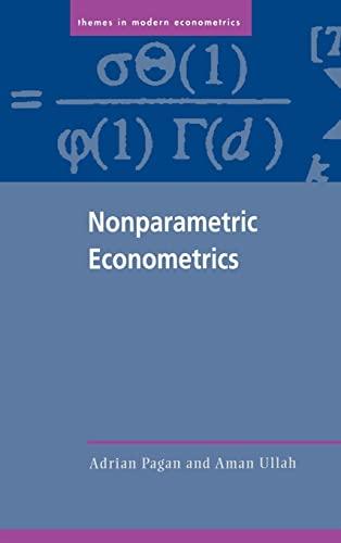9780521355643: Nonparametric Econometrics Hardback (Themes in Modern Econometrics)