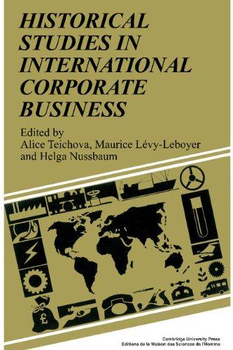 9780521356008: Historical Studies in International Corporate Business