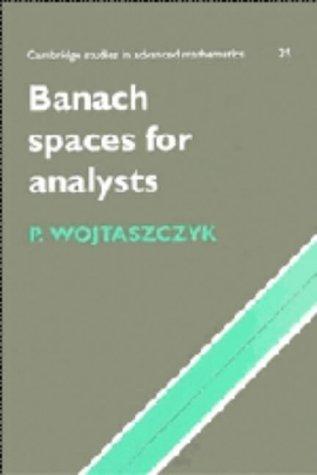 9780521356183: Banach Spaces for Analysts (Cambridge Studies in Advanced Mathematics)