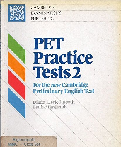 9780521356800: PET Practice Tests 2 Student's book