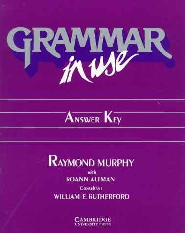 9780521357012: Grammar in Use Answer key: Reference and Practice for Intermediate Students of English