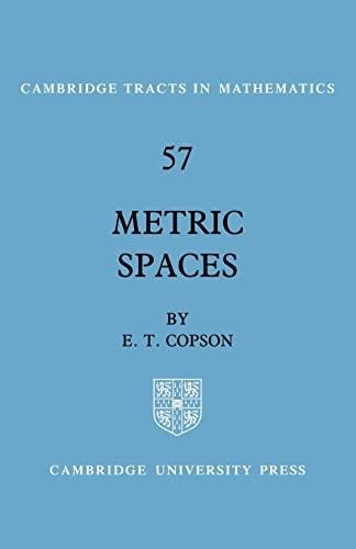 9780521357326: Metric Spaces (Cambridge Tracts in Mathematics)