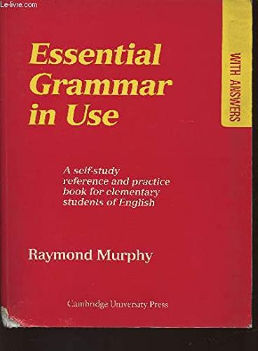 English grammar in use with answers edition raymond murphy abebooks essential grammar in use a self study reference murphy raymond fandeluxe Image collections