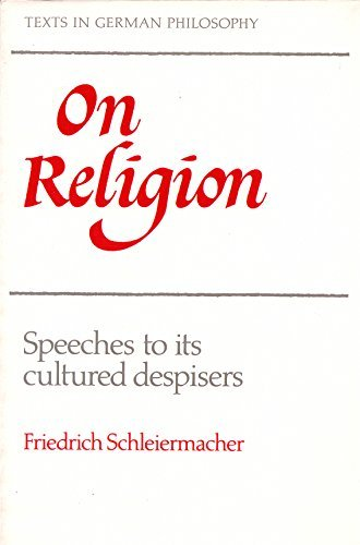 9780521357890: On Religion: Speeches to its Cultured Despisers (Texts in German Philosophy)