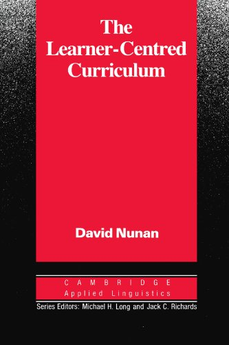 9780521358439: The Learner-Centred Curriculum: A Study in Second Language Teaching (Cambridge Applied Linguistics)
