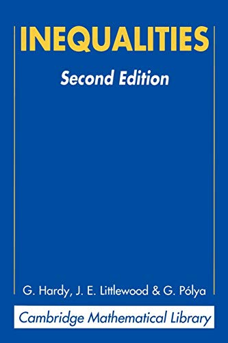Inequalities (Cambridge Mathematical Library): Hardy, G. H.,