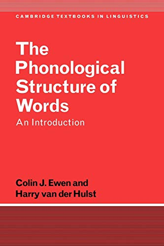 9780521359146: The Phonological Structure of Words: An Introduction (Cambridge Textbooks in Linguistics)