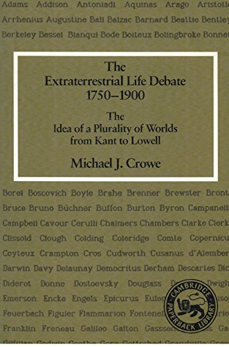 9780521359863: The Extraterrestrial Life Debate 1750-1900: The Idea of a Plurality of Worlds from Kant to Lowell