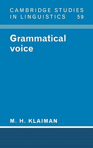 9780521360012: Grammatical Voice