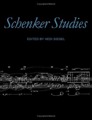 9780521360388: Schenker Studies: v. 1
