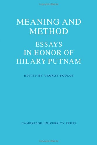 Meaning and Method: Essays in Honor of Hilary Putnam: Boolos, George (ed.)
