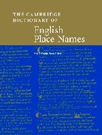 9780521362092: The Cambridge Dictionary of English Place-Names: Based on the Collections of the English Place-Name Society