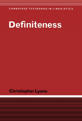 9780521362825: Definiteness (Cambridge Textbooks in Linguistics)