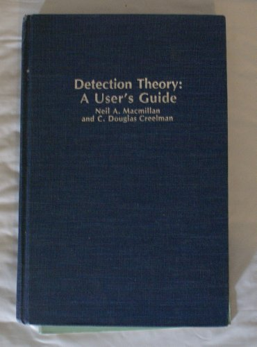 9780521363594: Detection Theory: A User's Guide