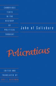 9780521363990: John of Salisbury: Policraticus (Cambridge Texts in the History of Political Thought)