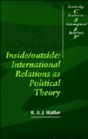9780521364232: Inside/Outside: International Relations as Political Theory (Cambridge Studies in International Relations)