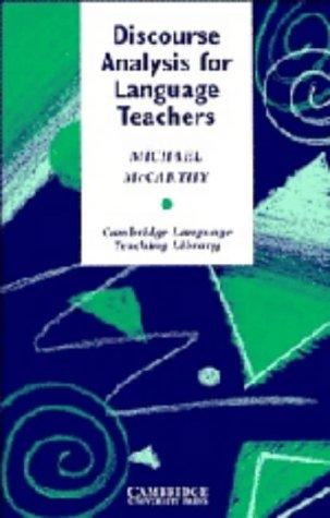 9780521365413: Discourse Analysis for Language Teachers (Cambridge Language Teaching Library)