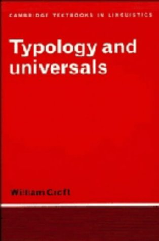 9780521365833: Typology and Universals