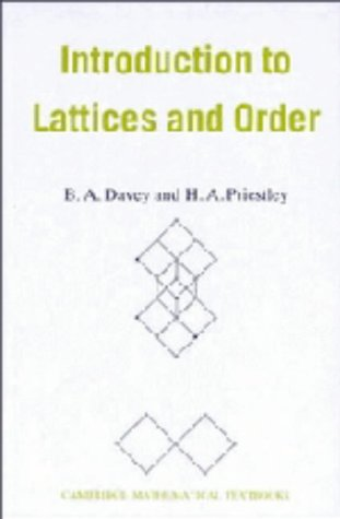9780521365840: Introduction to Lattices and Order