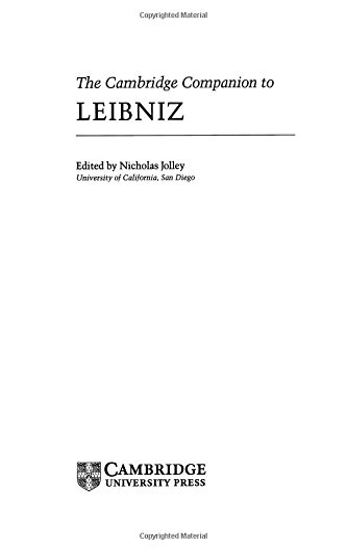 9780521365888: The Cambridge Companion to Leibniz Hardback (Cambridge Companions to Philosophy)
