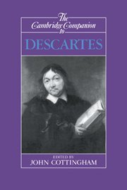 9780521366236: The Cambridge Companion to Descartes (Cambridge Companions to Philosophy)