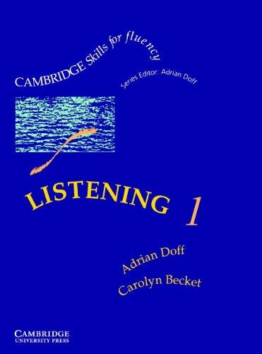 Listening 1 Pre-intermediate Students Book (Cambridge Skills: Doff, Adrian and